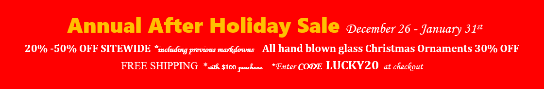 After Holiday Sale - Code: LUCKY20
